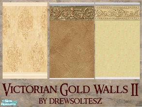 Victorian Gold Walls II & drewsoltesz\u0027s Sims 2 Sets - \u0027victorian\u0027