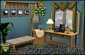 Sims 3 —  Blanton Hallway by sim_man123 — New mesh set, contains 7 items. Mainly decorative, perfect for hallways,