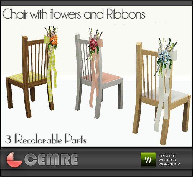 Wedding Altar Sims 3: Cemre's Lily Wedding Set Chair With Flowers