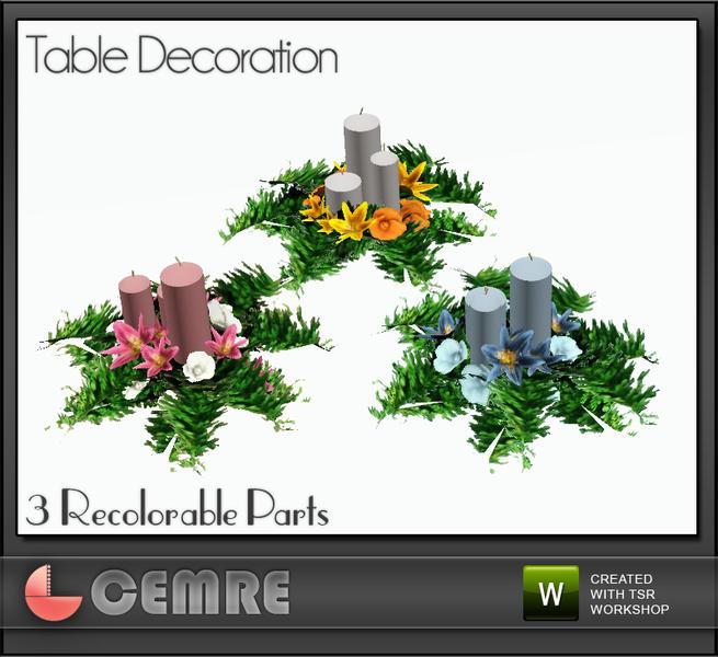 Cemres Lily Wedding Set Table Decoration