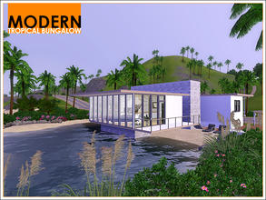 Sims 3 — Modern Tropical Bungalow by Leomo — This cute little Modern Tropical Bungalow is situated at its own private