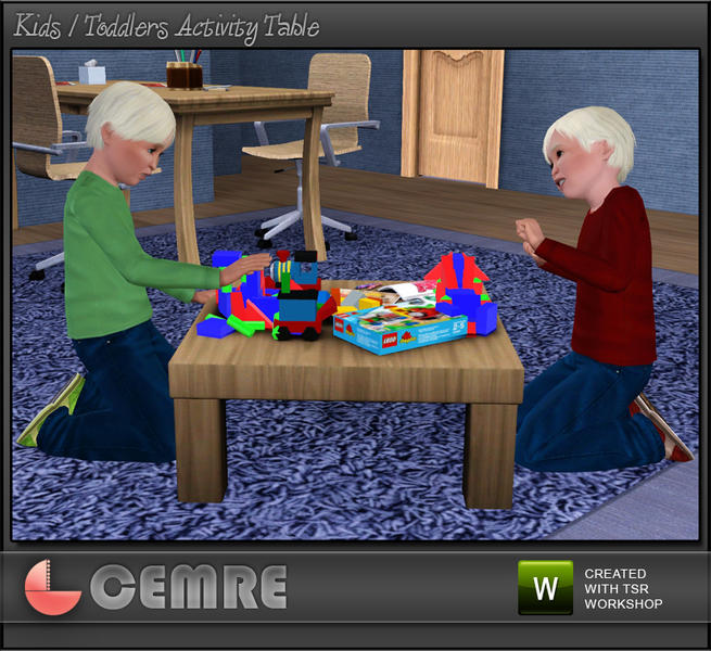 The Sims Resource Elegant Bathroom: Cemre's Kids / Baby Activity Table