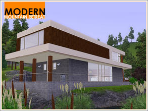 Sims 3 — Modern Mountain Retreat by Leomo — This Modern Mountain Retreat has a modern exterior and interior, but doesn't