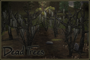 Sims 3 —  Dead Trees by sim_man123 — Set of 4 dead trees for Halloween, spooky lots, graveyards, and whatever else you