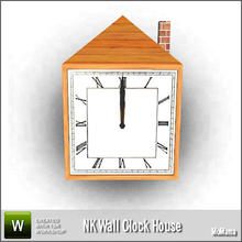 Sims 3 — NK Wall Clock House by MoMama — Show you house is your home with this homey wall clock. By MoMama. TSRAA.