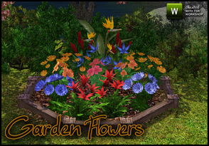 Sims 3 —  Garden Flowers by sim_man123 — 7 meshes from various TS2 sets converted to TS3, all flowers and some foliage is