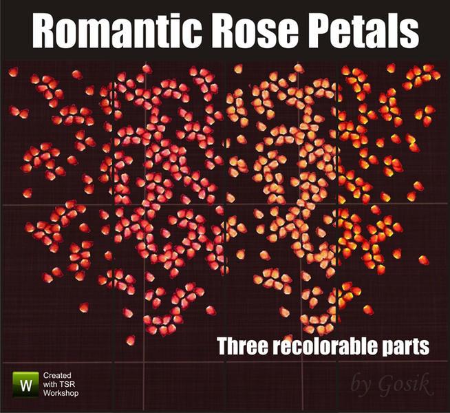 Gosik's Romantic rose petals (rug) The Sims Resource