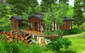 Sims 3 — Warm house by chouyen2002 — The house has a living room, kitchen, dining room, two bedrooms and two bathrooms,