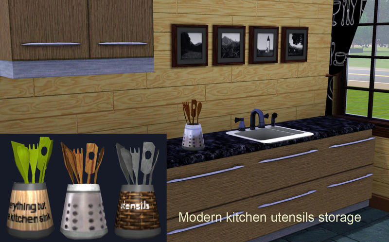 Lreveles18 39 s kitchen utensils modern for Sims 3 kitchen designs