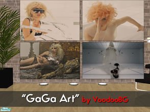 "Sims 2 — ""GaGa Art\"" by VoodooBG — These are recolours of a few Maxis paintings. The pictures are taken from"