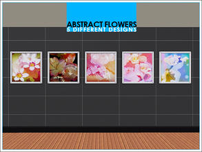 Sims 3 — Abstract Flowers Painting by Leomo by Leomo — One painting with five different designs.