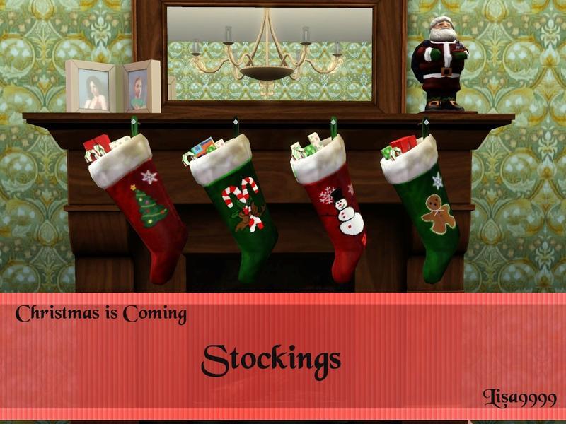 Christmas Decor Sims 3 : Lisa s christmas stockings