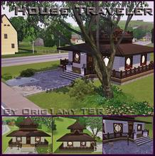 Sims 3 — House Traveler by orig1amy — After three or four trips to Egypt, two in China and one in Paris, I decided to