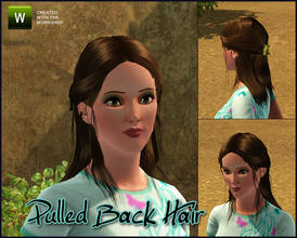 Sims 3 — Pulled Back Ponytail by sim_man123 — New pulled-back style hair mesh, has working root/tip/highlights/base color