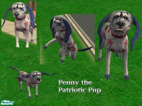 Sims 2 — Penny the Patriotic Pup by Small Town Sim — This little gal is a bundle of energy and can't wait to be adopted