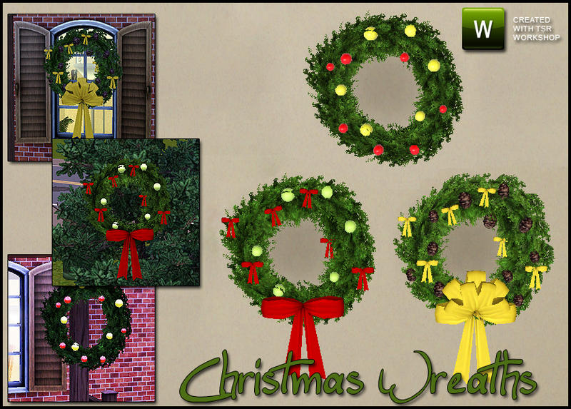 Christmas Decor Sims 3 : Sim man s christmas wreaths