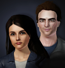 Sims 3 — Twilight (Please read instructions) by senemm — Edward Cullen (Robert Pattinson) and Bella Swan (Kristen