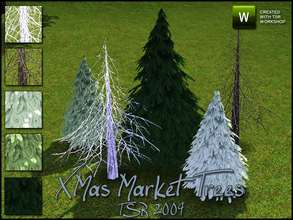 Sims 3 —  XMas Market Trees by sim_man123 — 3 new pine trees, made as decorations for part of the TSR XMas Market 2009.