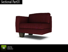 Nola Living BYO Sectional Part01  sc 1 st  The Sims Resource : sims 3 sectional - Sectionals, Sofas & Couches