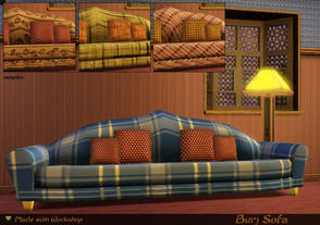 Sims 3 — Burj Sofa by senemm — An elegant looking huge sofa with pillows