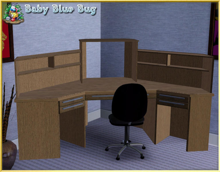 Babybluebug 39 s bbb office max deluxe corner desk with hutch - Office max office desk ...