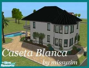 Sims 2 — Caseta Blanca by missyzim — Part of my mini Mediterranean series. Features 2 bedrooms and 2 bathrooms. Perfect