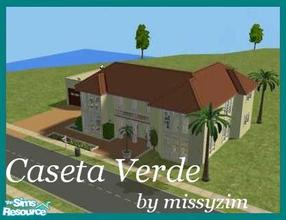 Sims 2 — Caseta Verde by missyzim — Part of my mini Mediterranean series. Features 2 bedrooms and 2 bathrooms. Also has