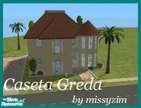 Sims 2 — Caseta Greda by missyzim — Part of my mini Mediterranean series. Features 2 bedrooms and 2 bathrooms. Perfect