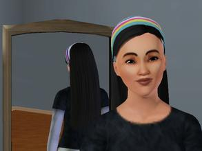 Sims 3 — rainbow hair band by g3rocks — No Description