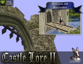 Sims 3 —  Castle Lore II - Defence and Barricades by Cyclonesue — The second of three sets in the Castle Lore series.