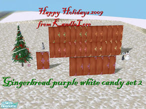 Sims 2 — Gingerbread purple white candy set 2 by kandlelore — A gingerbread wall for your sims to build their dream
