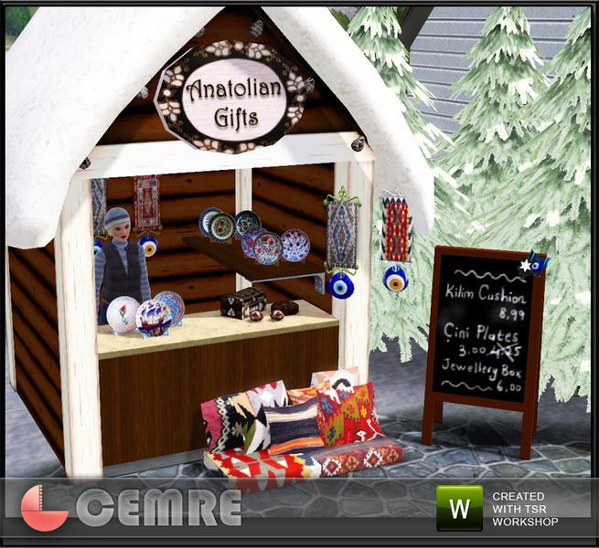 The Sims Resource Elegant Bathroom: Cemre's Xmas Market Anatolian Gifts Stall