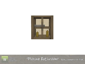 Sims 3 — Ploxine Bathroom Cabinet 1 by TheNumbersWoman — A cabinet to beautify your space. Part 1. By RicciNumbers at