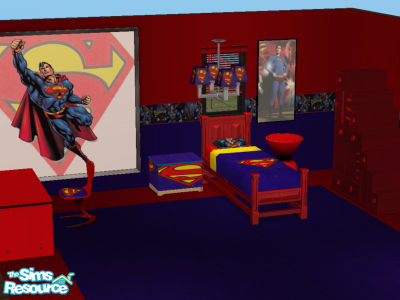 Beau Superman Bedroom Set