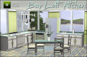 Sims 3 — Bay Loft Kitchen by sim_man123 — New kitchen mesh set. Contains 7 items - Counter (with working corner version),