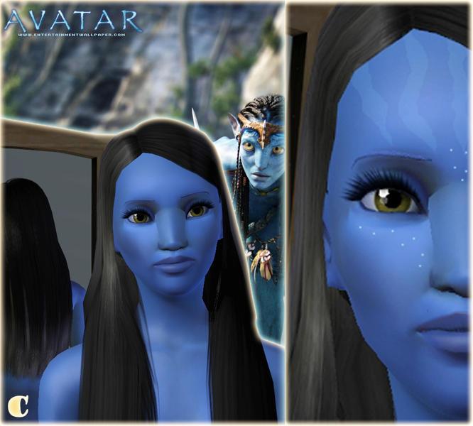 Sims 4 Avatar: C@rit's Neytiri From Avatar