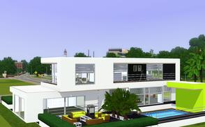 Sims 3 — Contemporary Resort Living 1001 by Sophronis — Modern house, with nice exterior design and loads of glass to