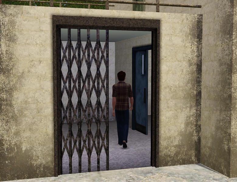 Cyclonesue S Metal Lattice Sliding Door
