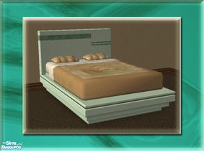 Sims 2 — A Luxurious Night\'s Sleep Bed Frame - Aquamarine by terriecason — A bed frame recolor in aquamarine for the
