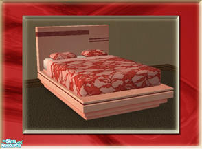 Sims 2 — A Luxurious Night\'s Sleep Bed Frame - Cherry by terriecason — A bed frame recolor in cherry for the luxurious