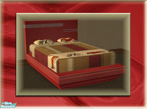 Sims 2 — A Luxurious Night\'s Sleep Bed Frame - Cherry 2 by terriecason — A bed frame recolor in cherry v2 for the