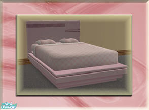 Sims 2 — A Luxurious Night\'s Sleep Bed Frame - Cotton Candy by terriecason — A bed frame recolor in cotton candy for the