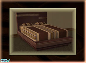 Sims 2 — A Luxurious Night\'s Sleep Bed Frame - Dark Chocolate by terriecason — A bed frame recolor in dark chocolate for