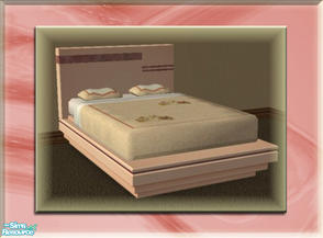 Sims 2 — A Luxurious Night\'s Sleep Bed Frame - Dusk Rose by terriecason — A bed frame recolor in dusk rose for the