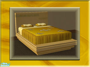 Sims 2 — A Luxurious Night\'s Sleep Bed Frame - Gold by terriecason — A bed frame recolor in gold for the luxurious
