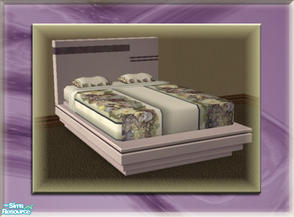 Sims 2 — A Luxurious Night\'s Sleep Bed Frame - Grape by terriecason — A bed frame recolor in grape for the luxurious