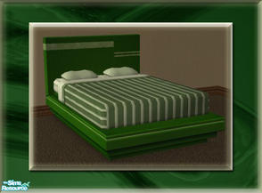 Sims 2 — A Luxurious Night\'s Sleep Bed Frame - Hunter by terriecason — A bed frame recolor in hunter green for the