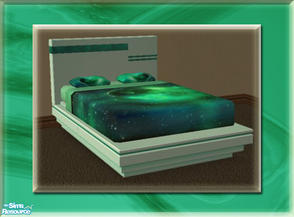 Sims 2 — A Luxurious Night\'s Sleep Bed Frame - Sea Green by terriecason — A bed frame recolor in sea green for the