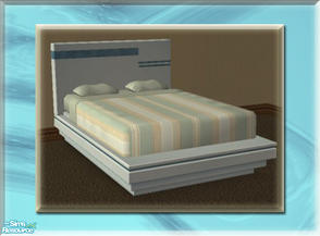 Sims 2 — A Luxurious Night\'s Sleep Bed Frame - Sky by terriecason — A bed frame recolor in sky for the luxurious