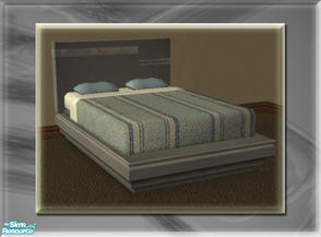 Sims 2 — A Luxurious Night\'s Sleep Bed Frame - Smoke by terriecason — A bed frame recolor in smoke for the luxurious